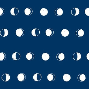 moon phases fabric // astronomy night sky moon eclipse full moons design navy