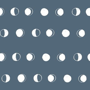 moon phases fabric // astronomy night sky moon eclipse full moons design payne's grey
