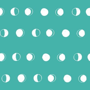 moon phases fabric // astronomy night sky moon eclipse full moons design turquoise