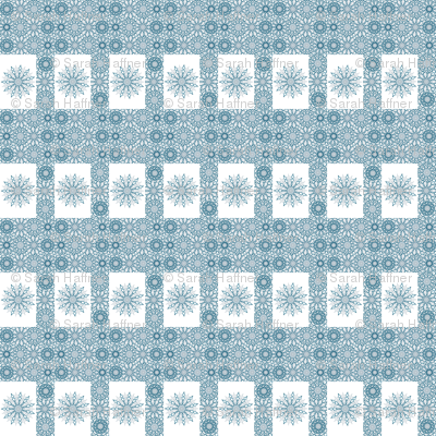 Perfect snowflake / snow flurry