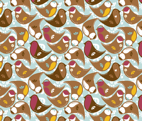 Gingerbird_British_Birds fabric by sarahparr on Spoonflower - custom fabric