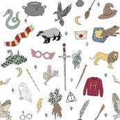 magic school - wizard, witch, magic, house,