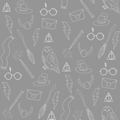 wizard doodle - charcoal witch, wizard, magic, glasses, broom, wand, hat,