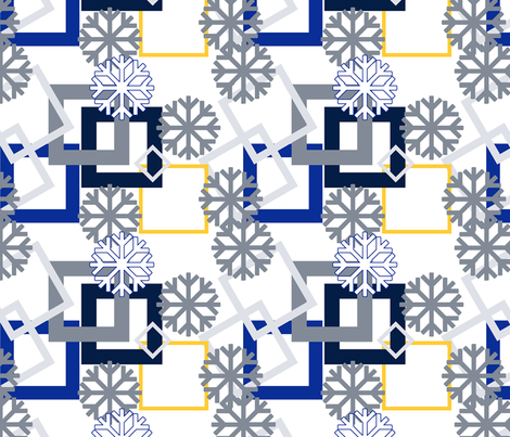 snowflake_modern fabric by peonydreamsart on Spoonflower - custom fabric
