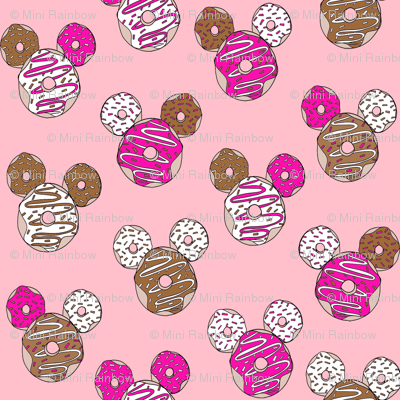 mouse ears donuts - cute theme park donuts - pink