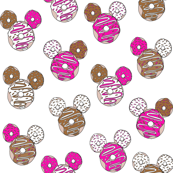 mouse ears donuts - cute theme park donuts - white