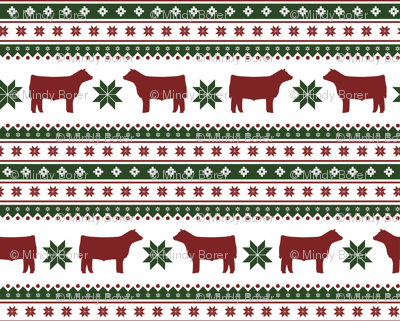 Christmas Sweater - steers / cow / cattle