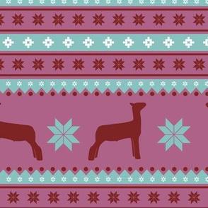 Christmas Sweater - show sheep / lamb