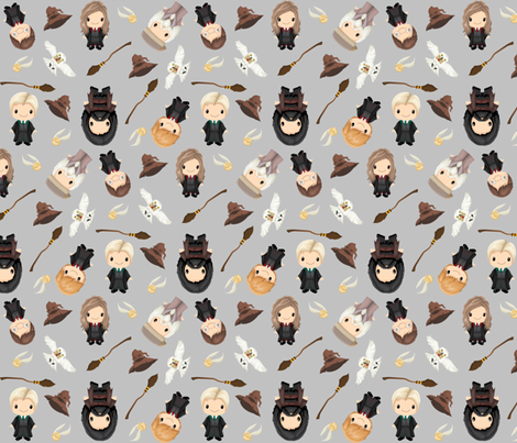 magical school fabric by jessicadupre on Spoonflower - custom fabric