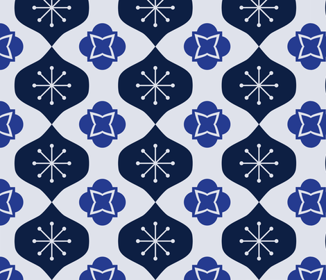 Winter Mod Blues fabric by bagelsdesigns on Spoonflower - custom fabric