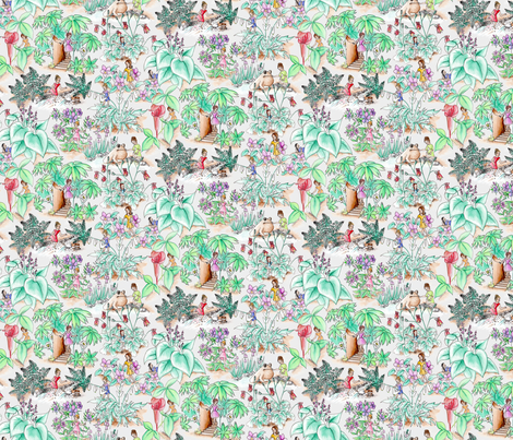 WoodlandPixiesSm fabric by blairfully_made on Spoonflower - custom fabric