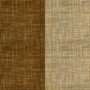 Duo Faux Linen Coffee and Oatmeal