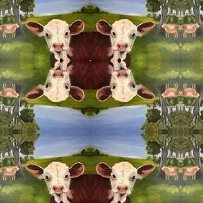 MOO and Smile Farm print