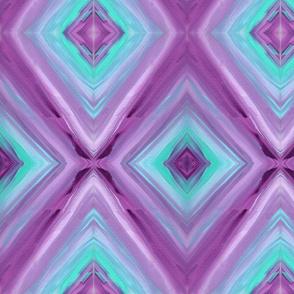 Blue and Purple Diamond