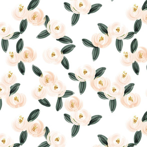 peach watercolor rosette // medium