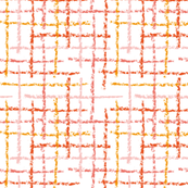 Crayon lines orange living coral pink