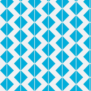 Teal Blue triangle squares