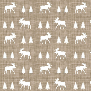 moose trot // taupe linen