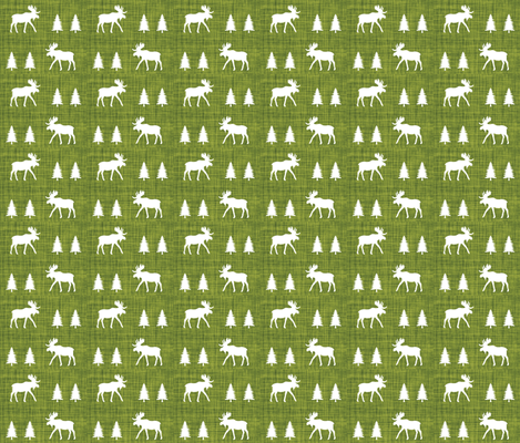 moose trot // 165-8 linen fabric by ivieclothco on Spoonflower - custom fabric