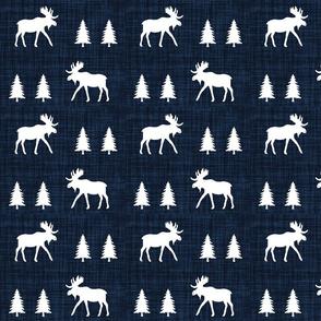 moose trot // navy linen
