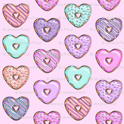 heart shaped donuts - valentines multi