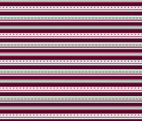 Magenta Stripe fabric by chappy_and_neko on Spoonflower - custom fabric