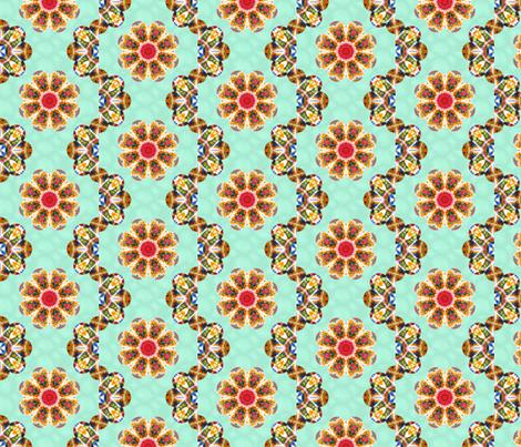 crochet wave petals quilt fabric by cathymcg on Spoonflower - custom fabric