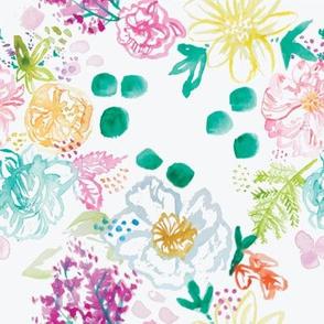 Polkadot Watercolor Floral