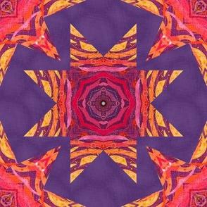 Mandala fabric star tile
