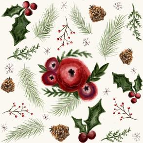 Christmas Floral Foilage