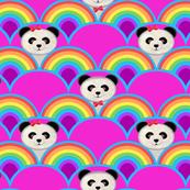 rainbow Panda baby nursery