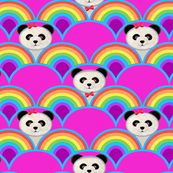 winter panda fabric // rainbow Panda baby nursery