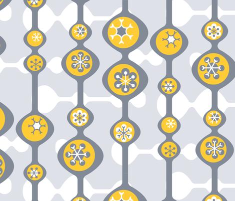 WinterModYellowBig fabric by fleabat on Spoonflower - custom fabric