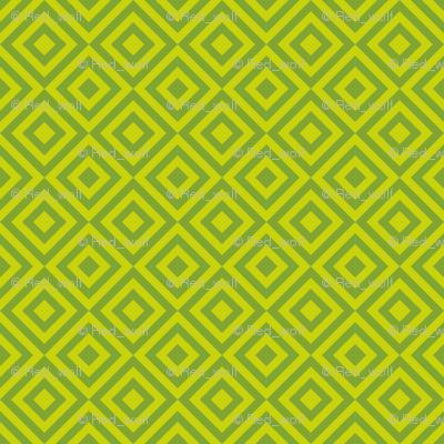 Geometric Pattern: Diamond Strobe: Lime