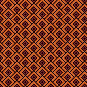 Geometric Pattern: Layered Diamonds: Orange/Red