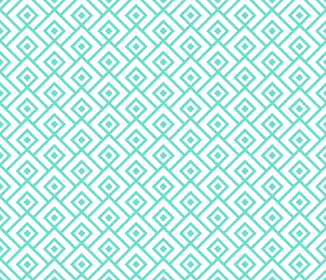 Geometric Pattern: Layered Diamonds: Blue fabric by red_wolf on Spoonflower - custom fabric