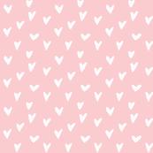 Hand Drawn Hearts - Blush
