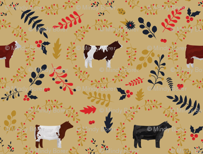 Fall Leaves & Steers / Cattle / Cows