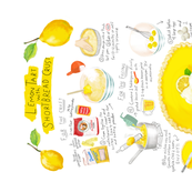 LEMON TART RECIPE TEA TOWEL