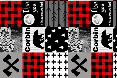 Corbin custom blanket fabric by moonsheets on Spoonflower - custom fabric
