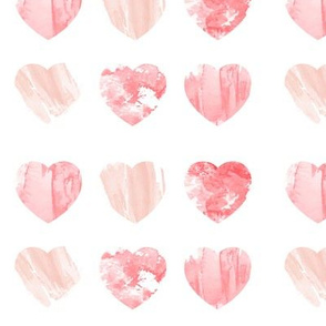 Watercolor Blush Hearts