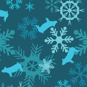 Snowflakes & Pigs