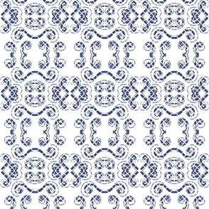 victorian picnic white and blue