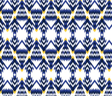 Mod Blue Spruce fabric by whimsicalvigilante on Spoonflower - custom fabric