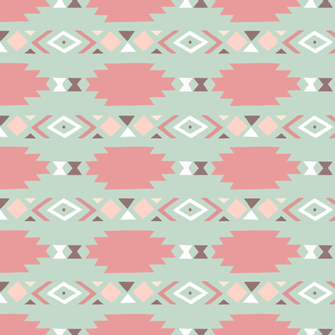 Tribal Geometric Boho Nursery fabric by julia_dreams on Spoonflower - custom fabric