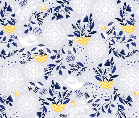 WinterGarden fabric by mintedtulip on Spoonflower - custom fabric