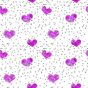 watercolor heart || scatter dots - purple