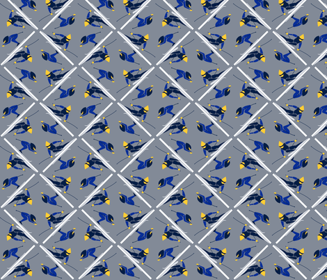Ski Race fabric by chubbellart on Spoonflower - custom fabric