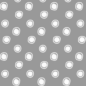 bulles - blanc sur gris