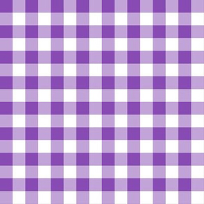 Purple and White Gingham